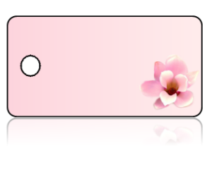 Create Design Key Tags Pink Flower Pink Background