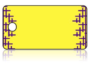 Create Design Key Tags Yellow Purple Cross Modern