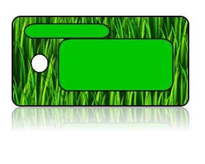 Create Design Key Tags Green Grass