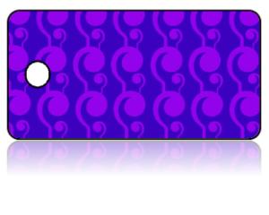 Create Design Key Tags Purple Retro Modern Pattern
