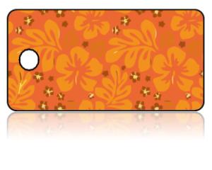 Create Design Key Tags Orange Yellow Flower Modern
