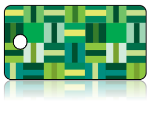 Create Design Key Tags Green Modern Box Line Pattern