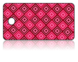 Create Design Key Tags Red Pink Diamond Pattern
