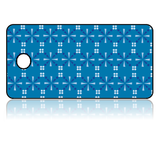 Create Design Key Tags Blue Star Cross Pattern Modern