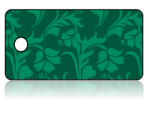 Create Design Key Tags Green Two Tone Leaf Pattern