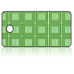 Create Design Key Tags Two Tone Green Tiles