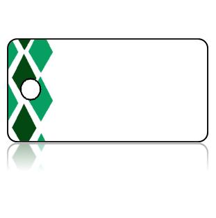 Create Design Key Tags Green Tones Diamond Border