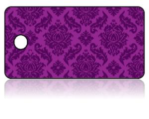 Create Design Key Tags Purple Damask Pattern