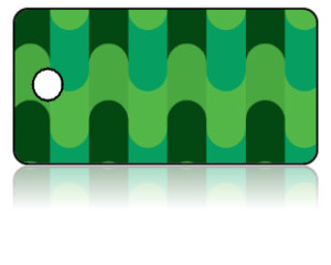Create Design Key TagsModern Green Tubes