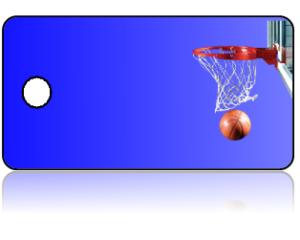 Create Design Key Tags Sports Basketball Hoop Blue