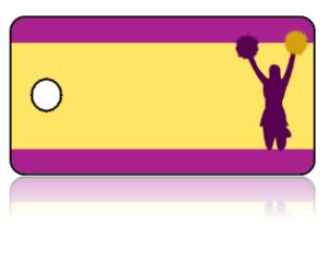 Create Design Key Tags Sports Cheerleader