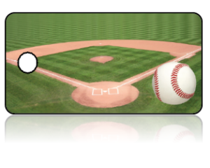 Create Design Key Tags Sports Baseball Diamond Field Green