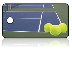 Create Design Key Tags Sports Tennis Court Balls