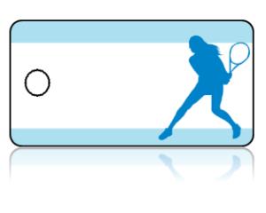 Create Design Key Tags Sports Tennis Female Return