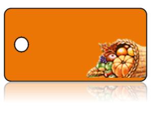 Create Design Key Tags Orange Cornucopia