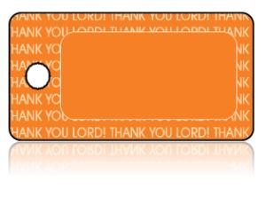 Create Design Key Tags Orange THANK YOU