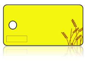 Create Design Key Tags Yellow Wheat
