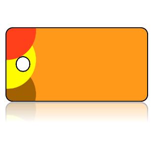Create Design Key Tags Deep Orange Yellow Brown Balls