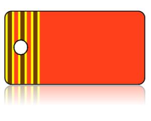 Create Design Key Tags Orange Brown Yellow Border Stripes