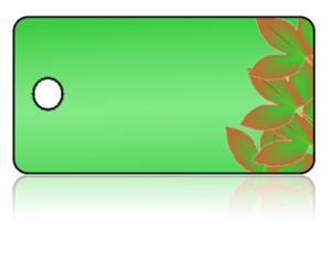 Create Design Key Tags Modern Green Leaf