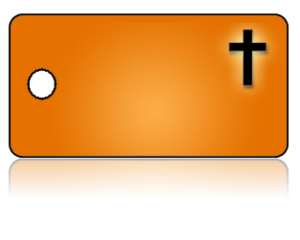Create Design Key Tags Orange Background Black Cross