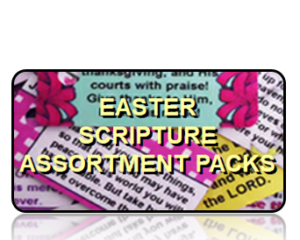 Bible Scripture Key Tags Assortment Packs Easter
