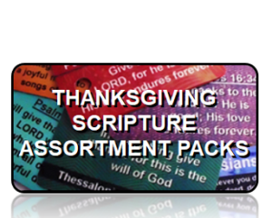 Bible Scripture Key Tags Assortment Packs Thanksgiving