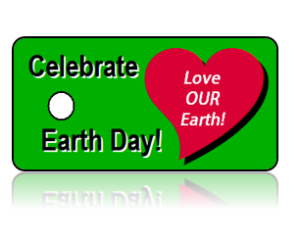 Celebrate Earth Day Key Tag Heart Design
