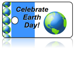 Celebrate Earth Day Key Tag Globe Design