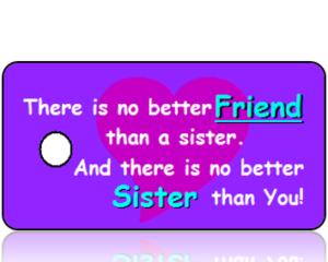 Sisters Celebration Key Tags Purple Design