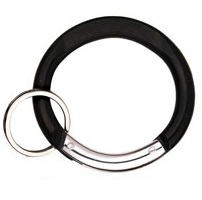 Carabiners Circle Shape BLACK with Split Ring