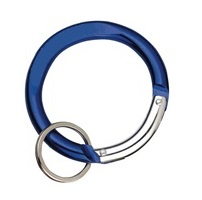 Carabiners Circle Shape BLUE with Split Ring