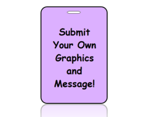 Create Custom Graphic Design Bag Tags Vertical