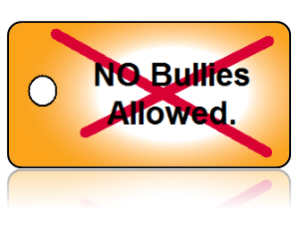 Bully Free No Bullies Education Key Tag