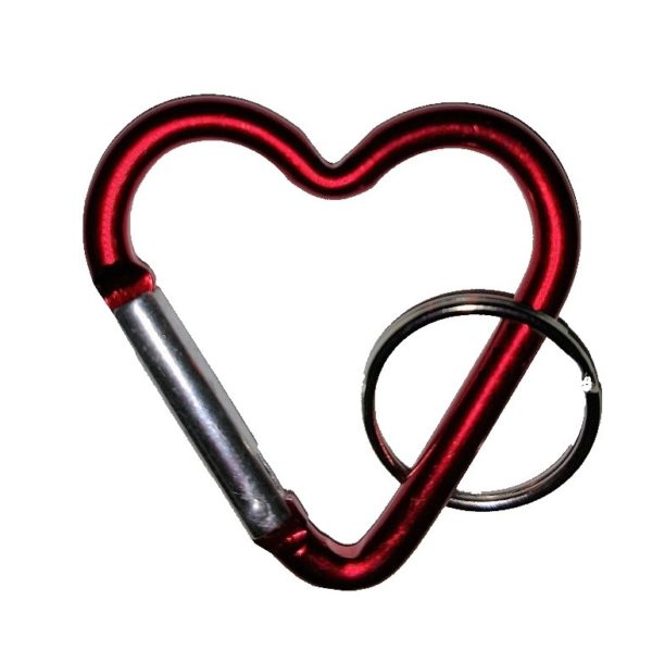 Carabiners Heart Shape Red