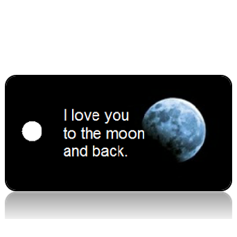Love Someone Moon Key Tags
