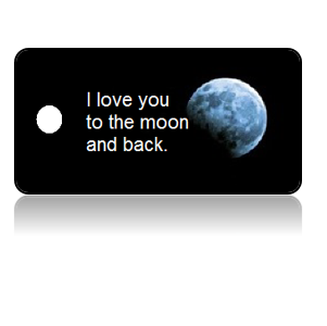 Love Someone Moon Key Tags