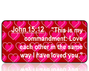 John 15:12 Bible Scripture Key Tag