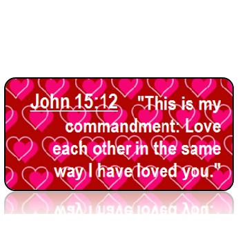 John 15:12 Bible Scripture Key Tag