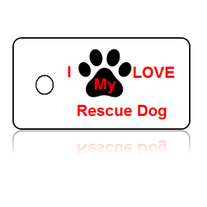 Love Rescue Dog Key Tags