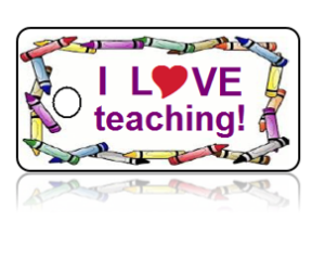 Love Teaching Crayon Design Key Tags – I Love Teaching!