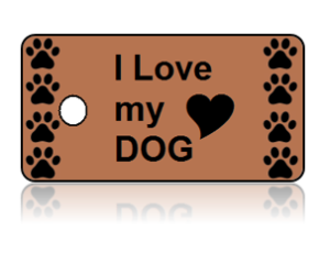 Love Dog Paw Print Design Key Tags