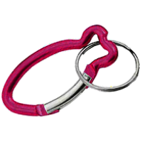Carabiners Fish Shape RED with Split Ring