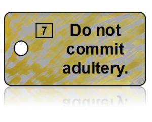 7th Commandment Bible Scripture Key Tags