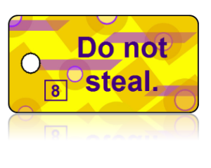 8th Commandment Bible Scripture Yellow Key Tags