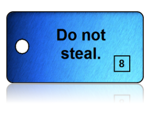 8th Commandment Bible Scripture Blue Key Tags