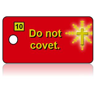 10th Commandment Bible Scripture Red Key Tags