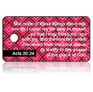 Acts 20:24 Bible Scripture Key Tags