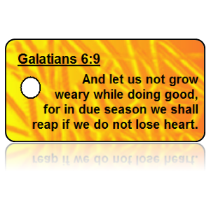 Galatians 6:9 Bible Scripture Key Tags