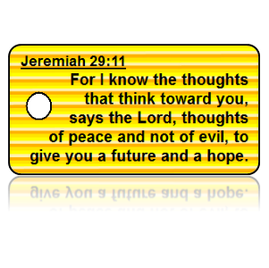 Jeremiah 29:11 Bible Scripture Key Tags